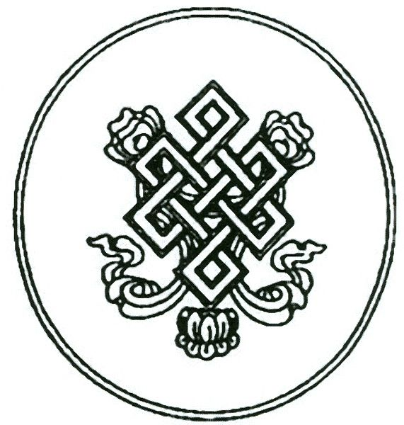 Auspicious Knot Or Endless Knot Represents Karma In Buddhism Would