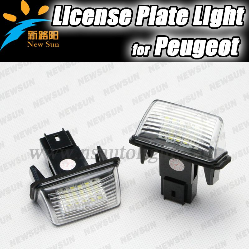 3528SMD LED Number License Plate Light Lamp kit for Citroen C3/C3 II ...