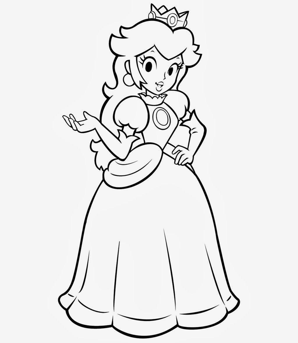 45++ Printable princess peach coloring pages ideas