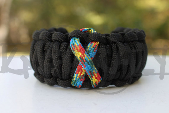 Your Choice Awareness Ribbon King Cobra 550 Paracord by KnotKrazy