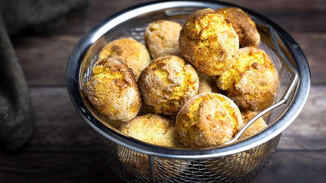 Air Fryer Hush Puppies Recipe Stuffed Peppers Food Network Recipes Air Fryer Recipes