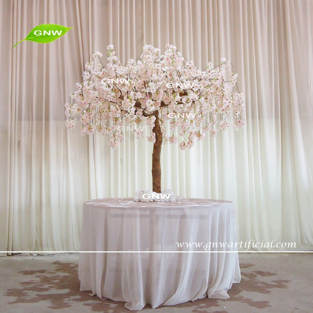 GNW CTR1605008 A Peach Wedding Table Tree Centerpieces Of Artificial Cherry Blossom