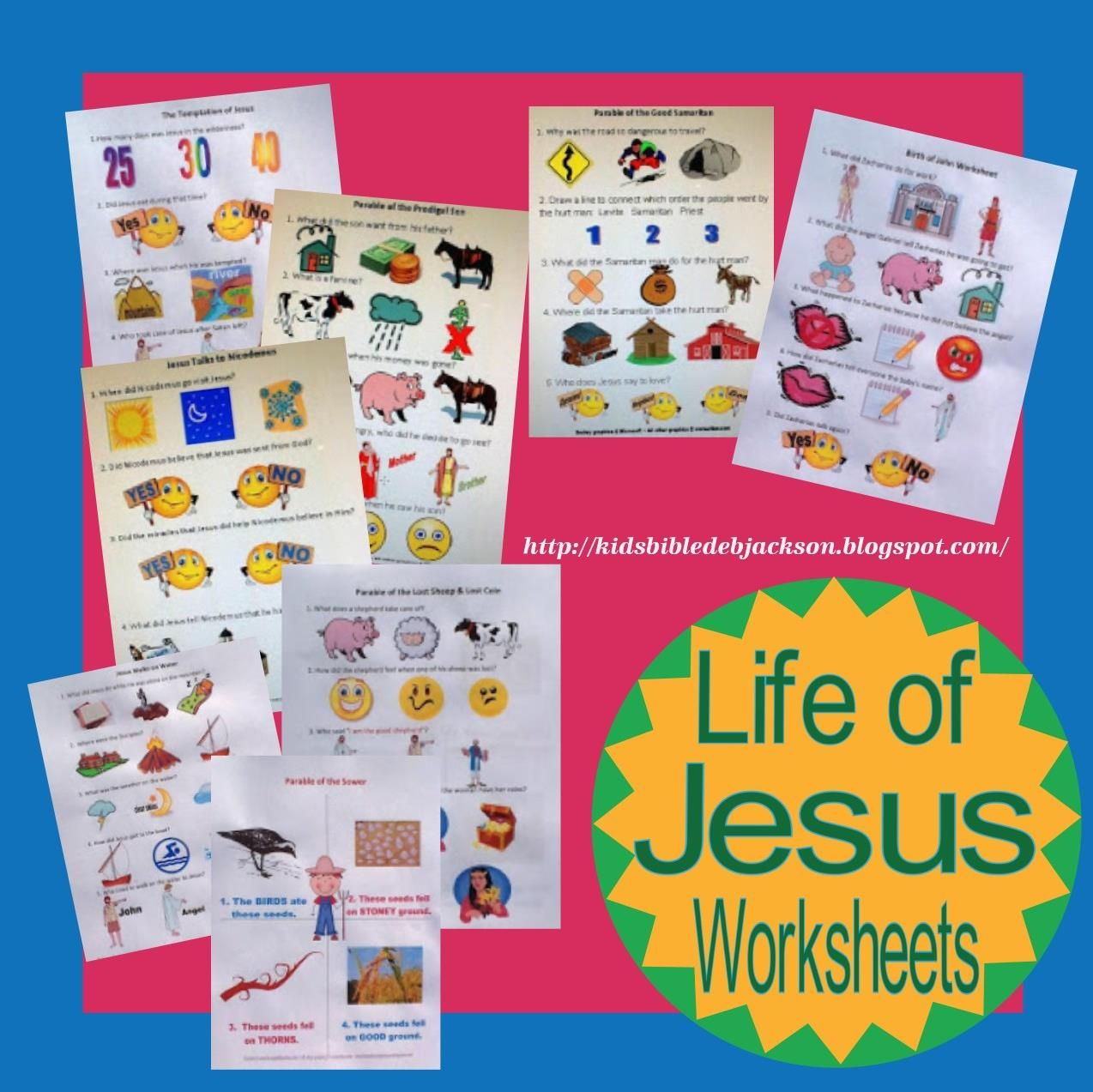 worksheet Jesus Worksheets For Kids bible fun for kids life of jesus worksheets gospels pinterest worksheets