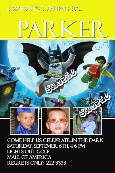Batman Lego Birthday Invitations Get These RIGHT NOW Design Yourself Online Download And Print IMMEDIATELY Or Choose My Printing Services