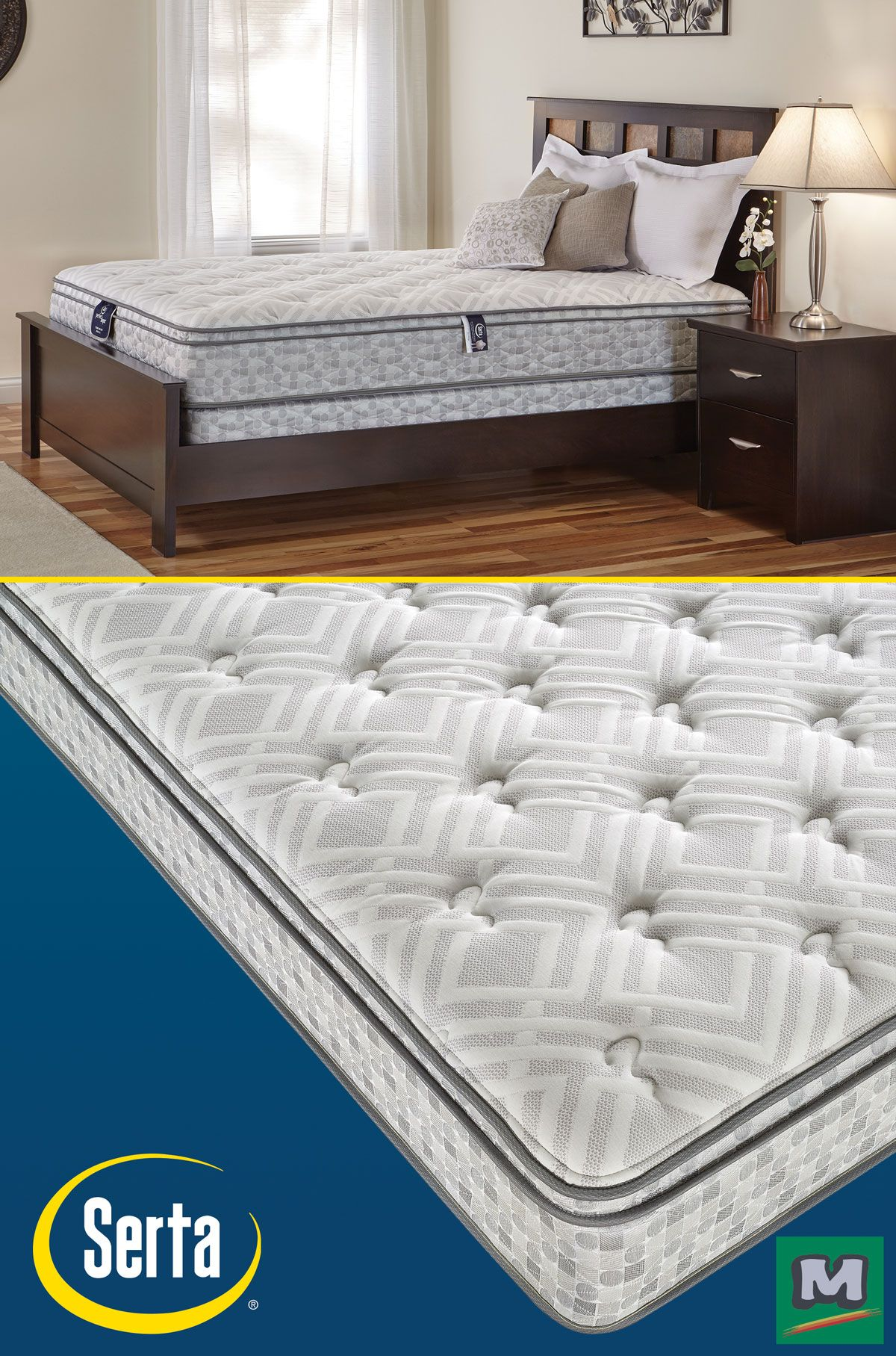 This Blue Ridge Ii Perfect Sleeper Mattress From Serta Features A Custom Support