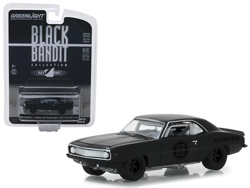 2019 GreenLight Series 20 Black Bandit 1969 Chevy Camaro Z//28 Trans Am Racing