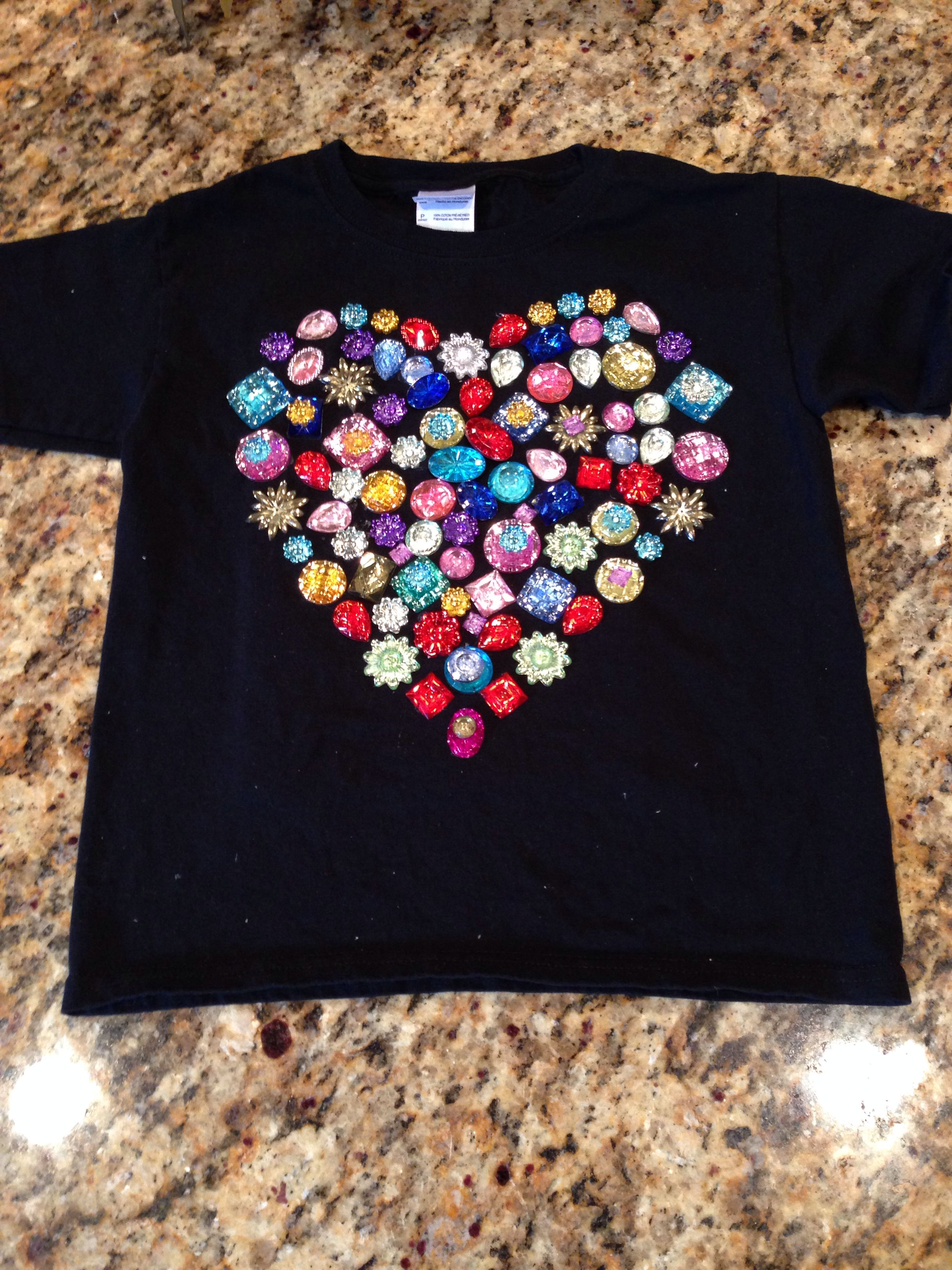 100th Day Of School T Shirt Made With 100 Random Glued On Inbloom