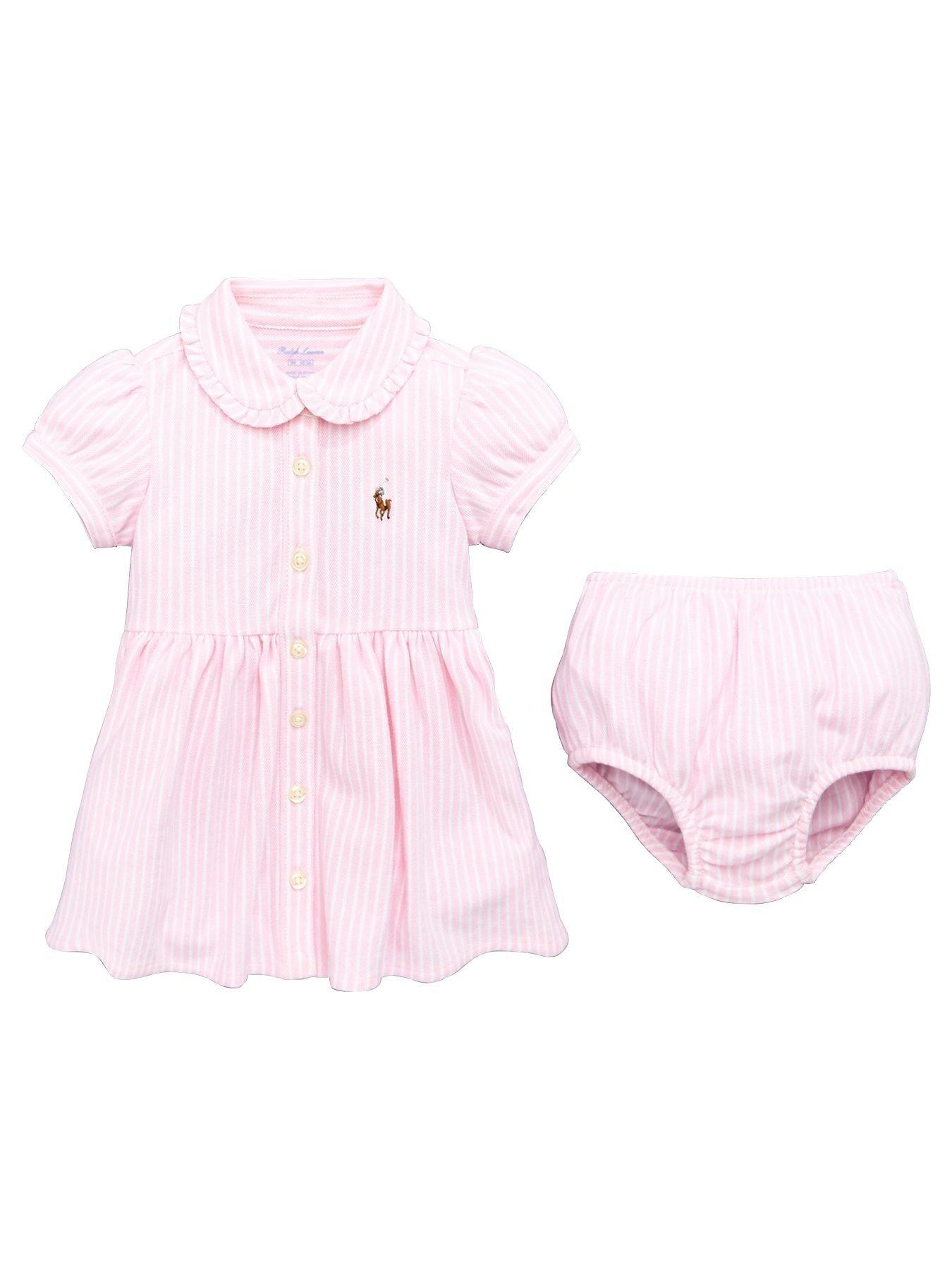 7498f557 Ralph Lauren Baby Girls Stripe Shirt Dress | littlewoods.com | baby ...