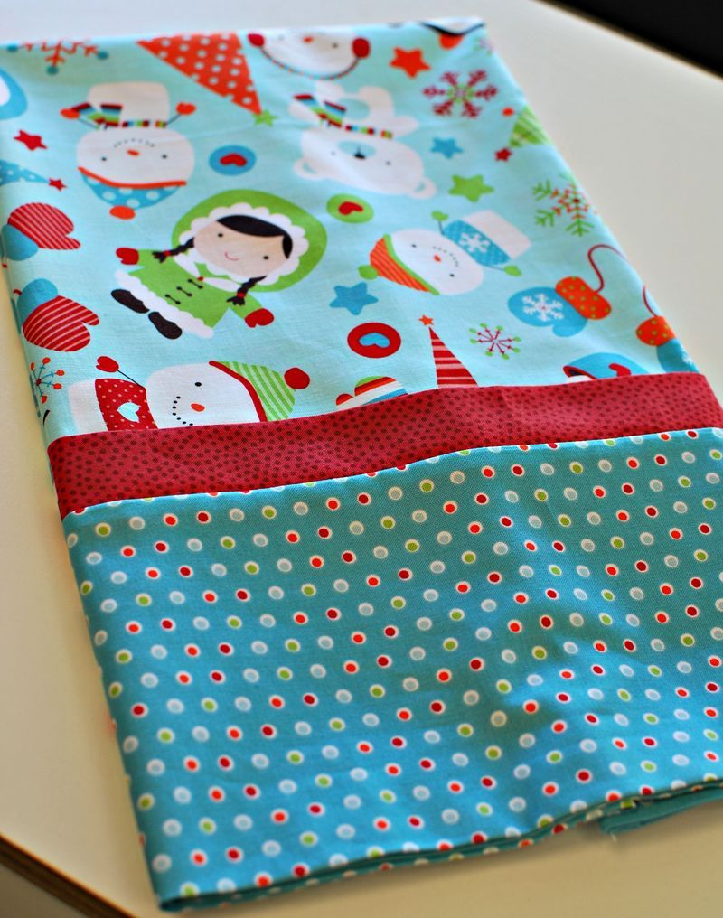 Christmas Pillowcase Ideas: Tutorial for making the fastest  easiest pillowcase ever  from the    ,