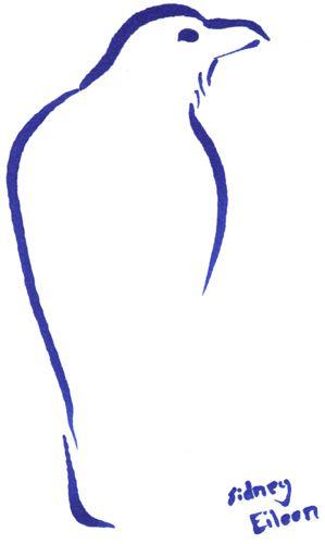 Minimalist Raven Tattoo: Title: Min. Raven 2, Artist: Sidney Eileen, Medium: Brush