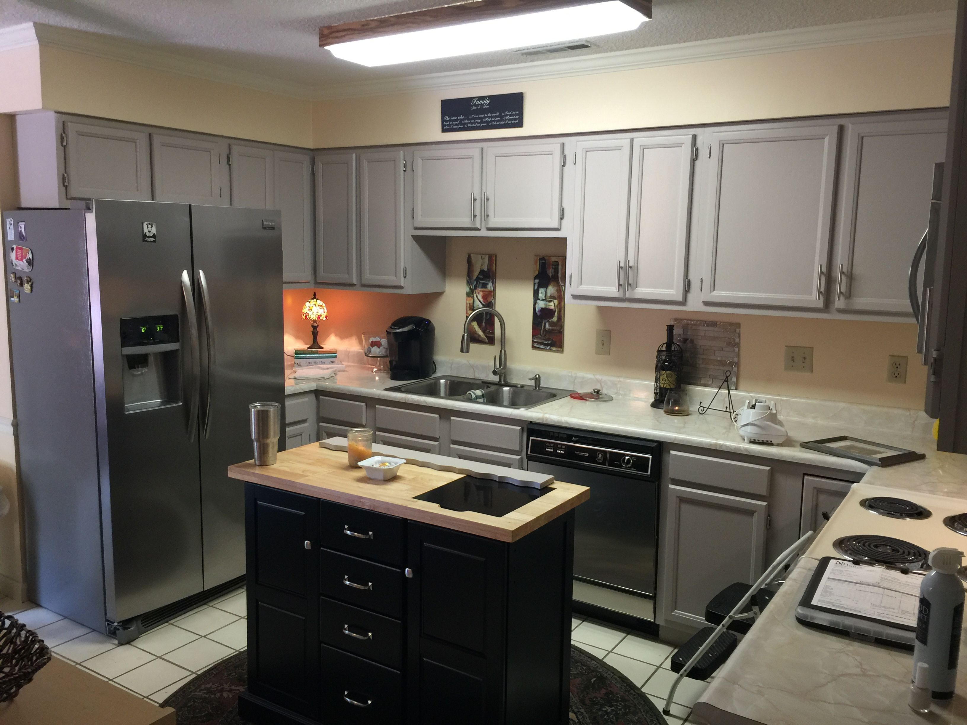 Best After With Behr Graceful Gray Flipping Houses Kitchen 400 x 300