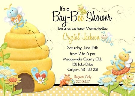 Bumble Bee Baby Shower Invitations Baby Shower for Parents