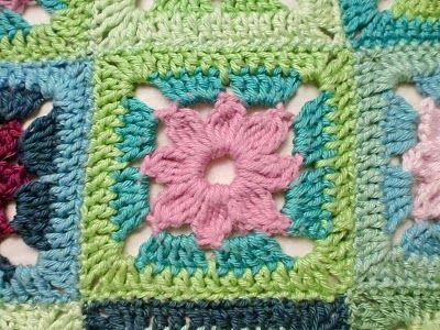 Haken En Meer Haakpatroon Bloem Flower Granny Square Diagram To