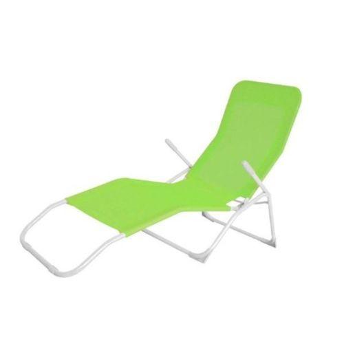 Carrefour carrefour bain de soleil 2 positions vitamine acier et textilène vert 32