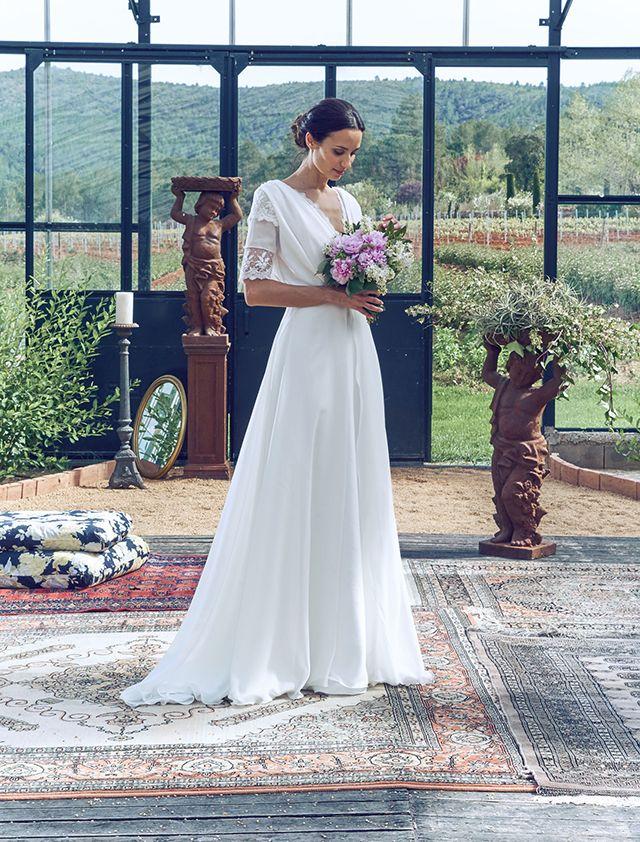 20a876cb vestido novia barcelona romantico bohemio blog bodas ideal precios ...