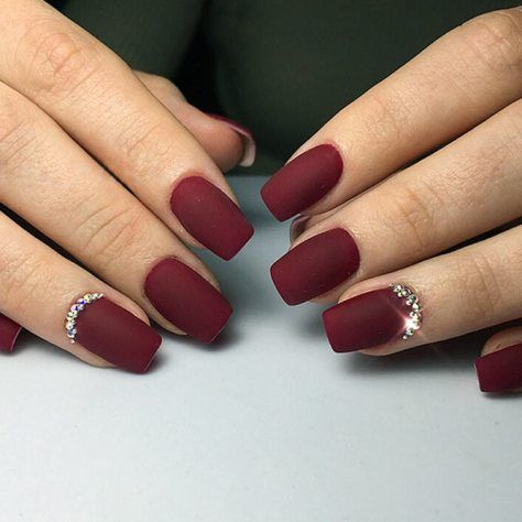 Pretty 27 Dazzling Maroon Nails Designs - Pretty 27 Dazzling Maroon Nails Designs Nails Pinterest Nails