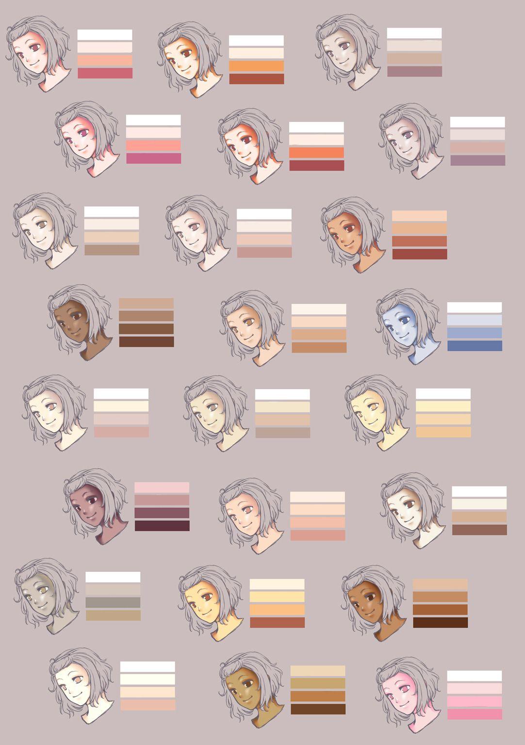 Drawing Deposit Of Yamneko Skin Color Palette From Rueme Colorful Drawings Skin Color Palette Skin Drawing