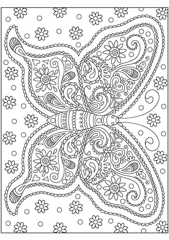 Vlinder Kleurplaten Voor Volwassenen.Kleurplaat Volwassenen Vlinder Fiene Vlinder Ausmalbilder