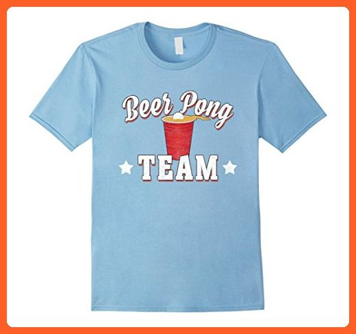 Mens Beer Pong Team T Shirt Funny Drinking Shirts Party Tees 2XL Baby Blue