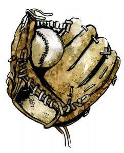 Wills Drawing Of A Baseball Mitt My Valentine Pinterest