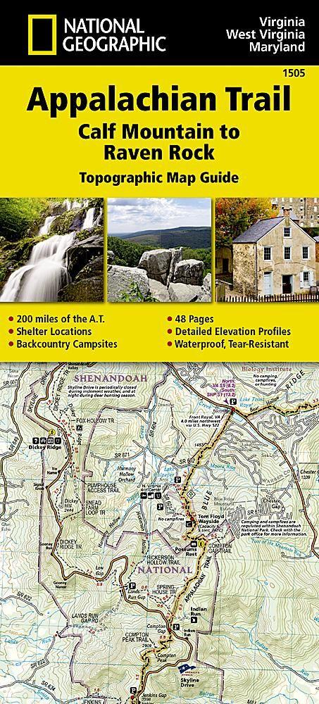 Appalachian Trail Topographic Map Guide Calf Mountain To Raven Rock - Appalachian trail topo map