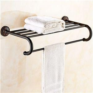 Badzubehör Handtuchhalter eu lager handtuchhalter badetuchablage bad messing schwarz antik