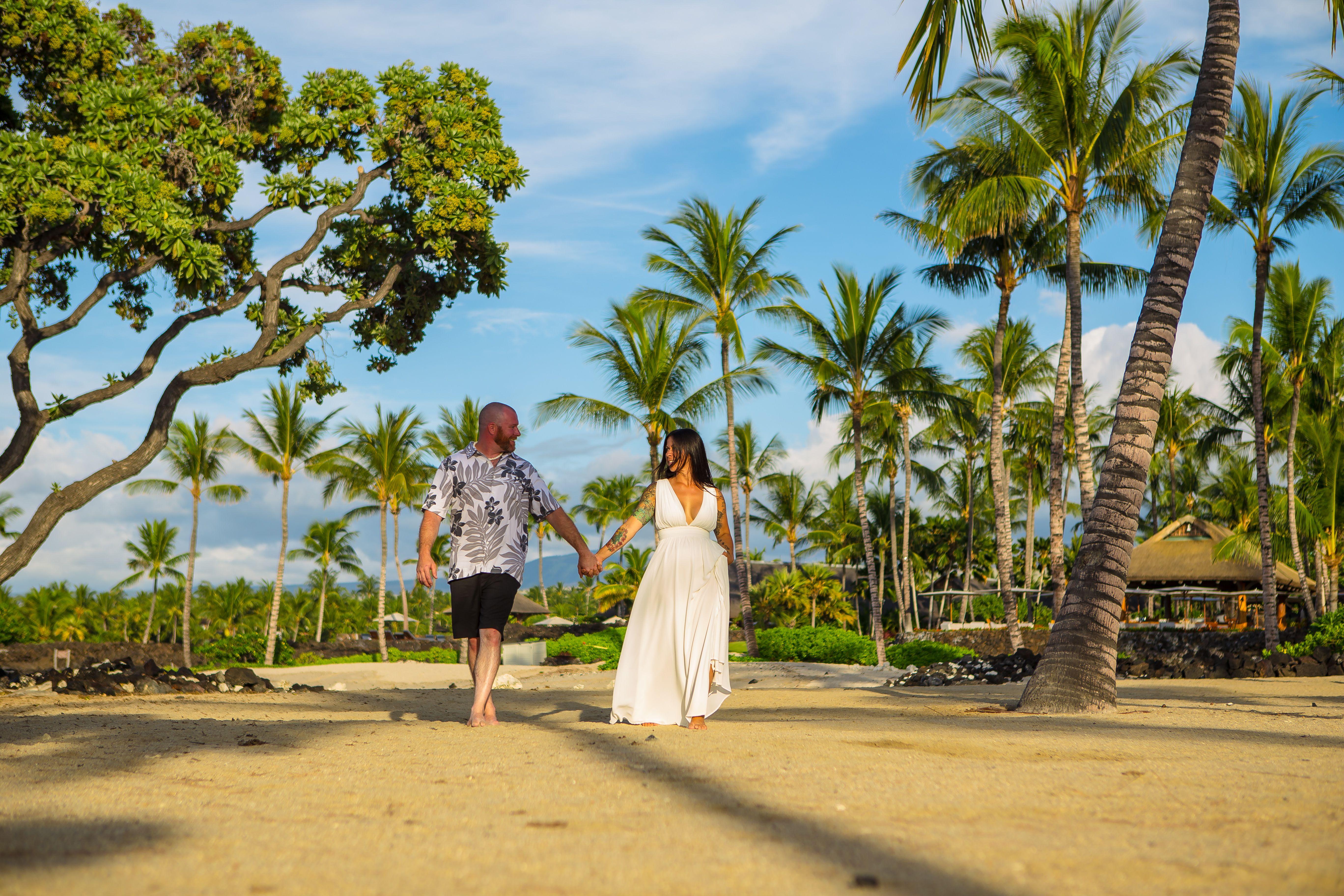 Big Island Hawaii Beach Wedding Kikaua Point Park Beach With Kona Wedding Officiant In 2020 Hawaii Beach Wedding Big Island Hawaii Beaches Hawaii Wedding Packages