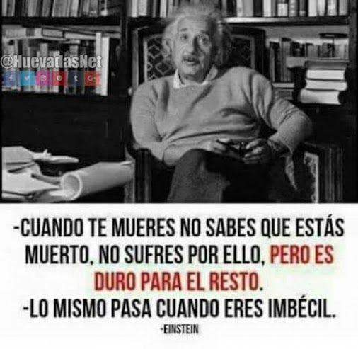 Sabia frase de Albert Einstein... Que verdad xd - Meme Para más imágenes graciosas y memes en Español visita: https://www.Huevadas.net #meme #humor #chistes #viral #amor #huevadasnet