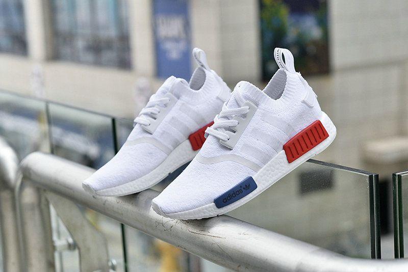 94c565cb3284 Cheap Original Fashion Adidas NMD Runner 2016 Summer Vintage White Red Blue  Shoe