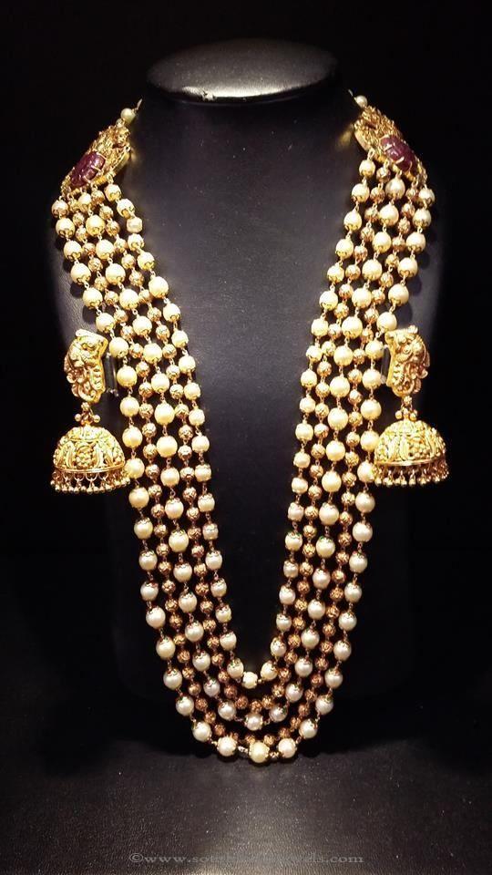 awesome Gold Pearl Long Haram Designs Pearl Long Haram Designs