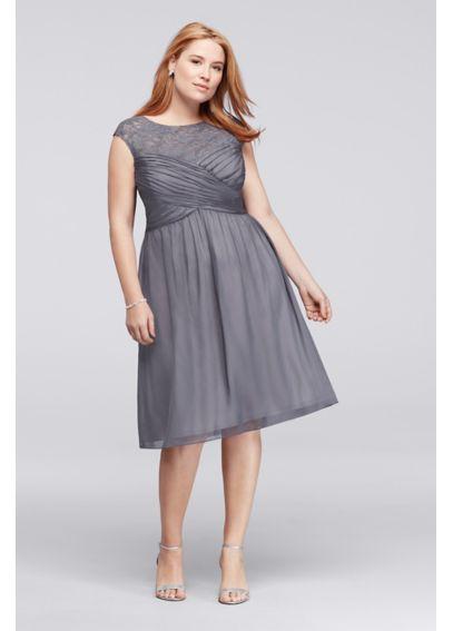 Illusion Lace Cap Sleeve Plus Size Dress Jdaijavm Wedding