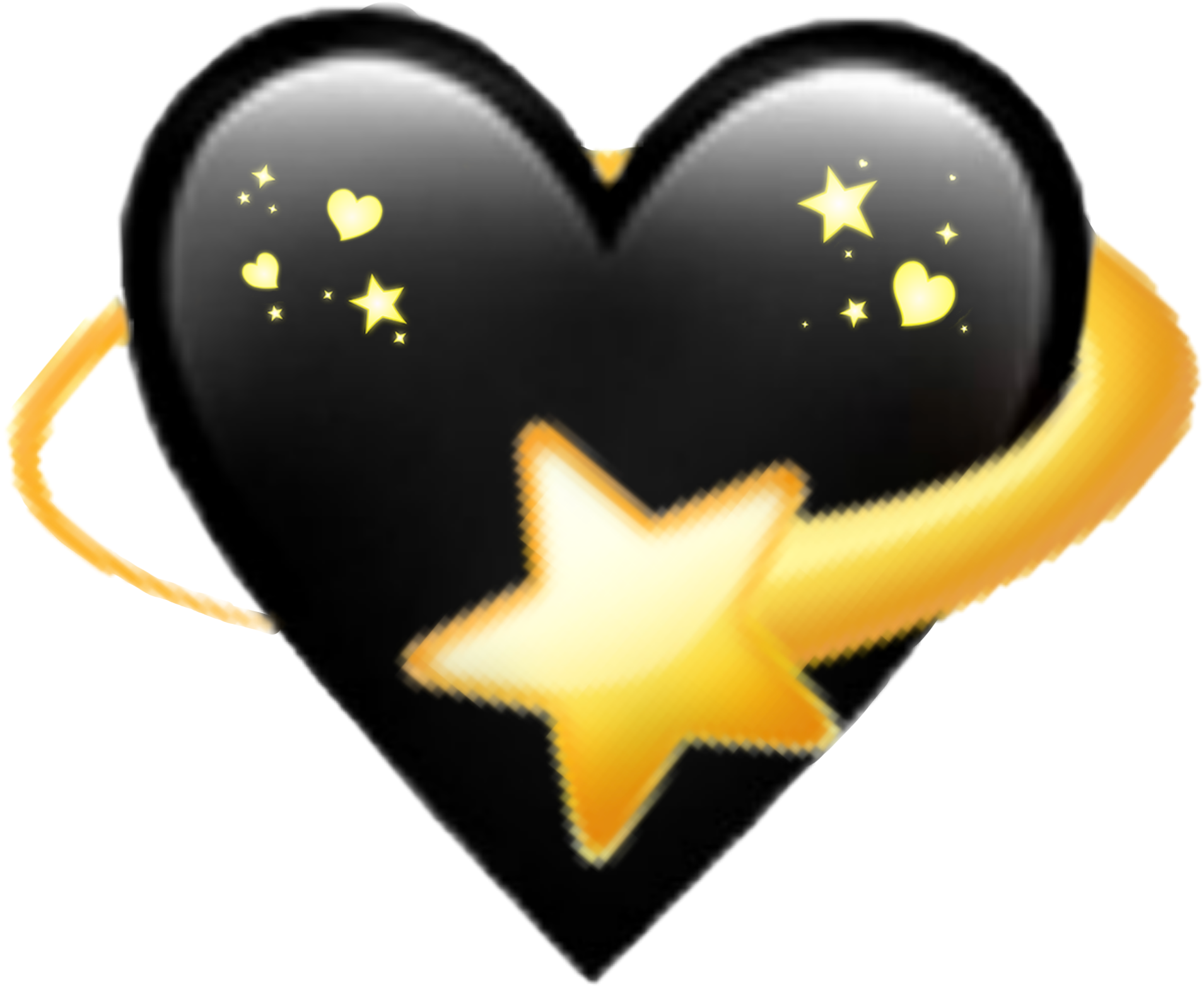 View Full Hd Black Heart Star Emoji Remix Sticker By Marras Heart Crown Black Hd Png Download And Find More Transparent Star Emoji Heart Crown Black Heart