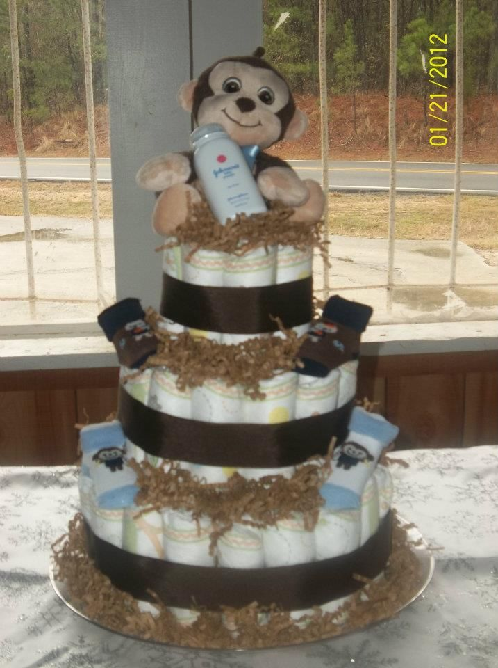 Monkey Diaper cake (boy)