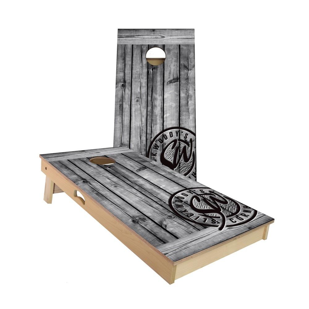 Incredible Slick Woodys Rustic Grey Regulation Size Cornhole Board Theyellowbook Wood Chair Design Ideas Theyellowbookinfo