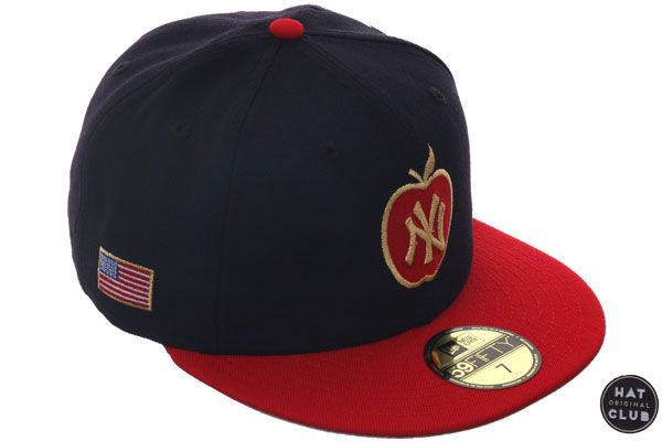 531231283c Hat Club Original New Era 59Fifty New York Yankees Apple Fitted Hat - 2T  Navy
