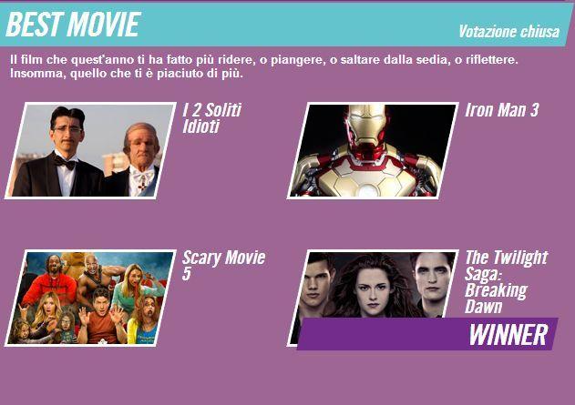 'Amanhecer – Parte 2′ Como Melhor Filme Do MTV Awards 2013 Na Itália