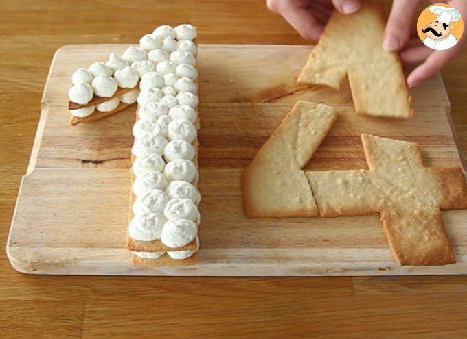 Tarte chiffres ou number cake