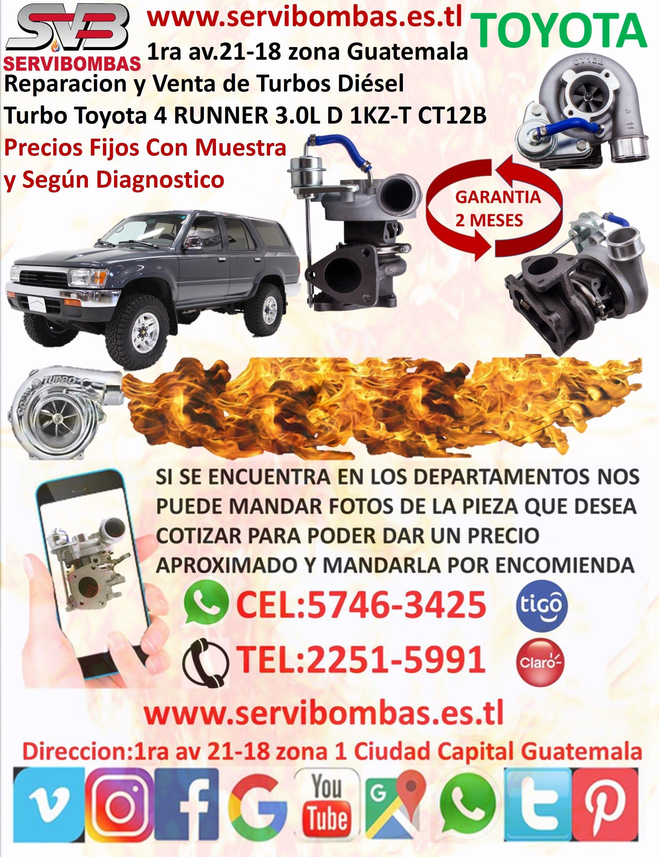 Reparaci U00f3n De Turbo Toyota 4runner 3 0l D 1kz