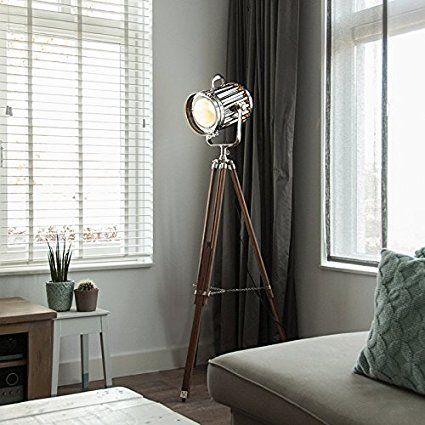 QAZQA Design / Industrie / Modern / Stehleuchte / Stehlampe / Standleuchte  / Lampe / Leuchte