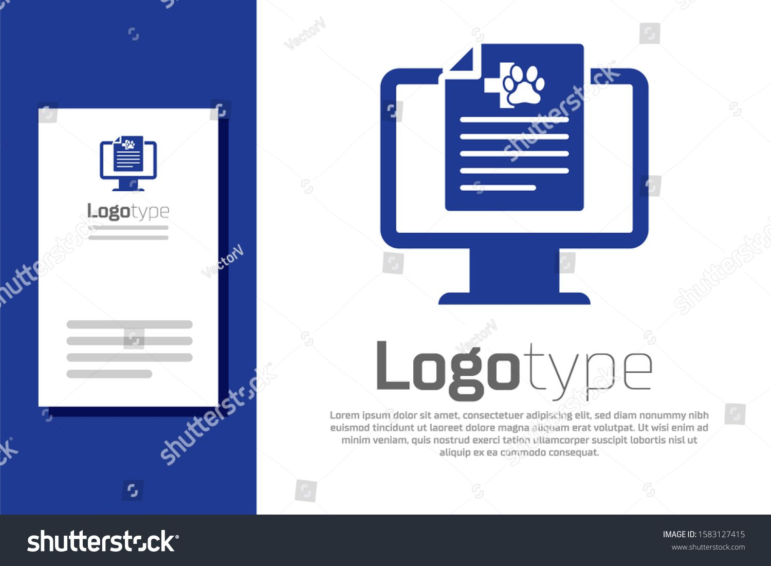 Blue Medical clinical record pet on monitor icon isolated on white background. Health insurance form. Prescription, medical check marks report. Logo design template element. #Ad , #Aff, #isolated#icon#white#Health