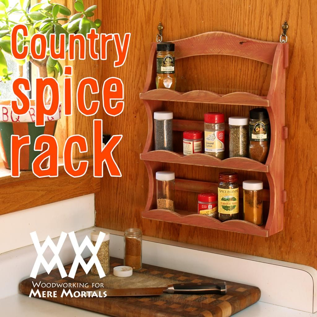 Make A Country Charm Spice Rack Great Pallet Wood Or Scrap