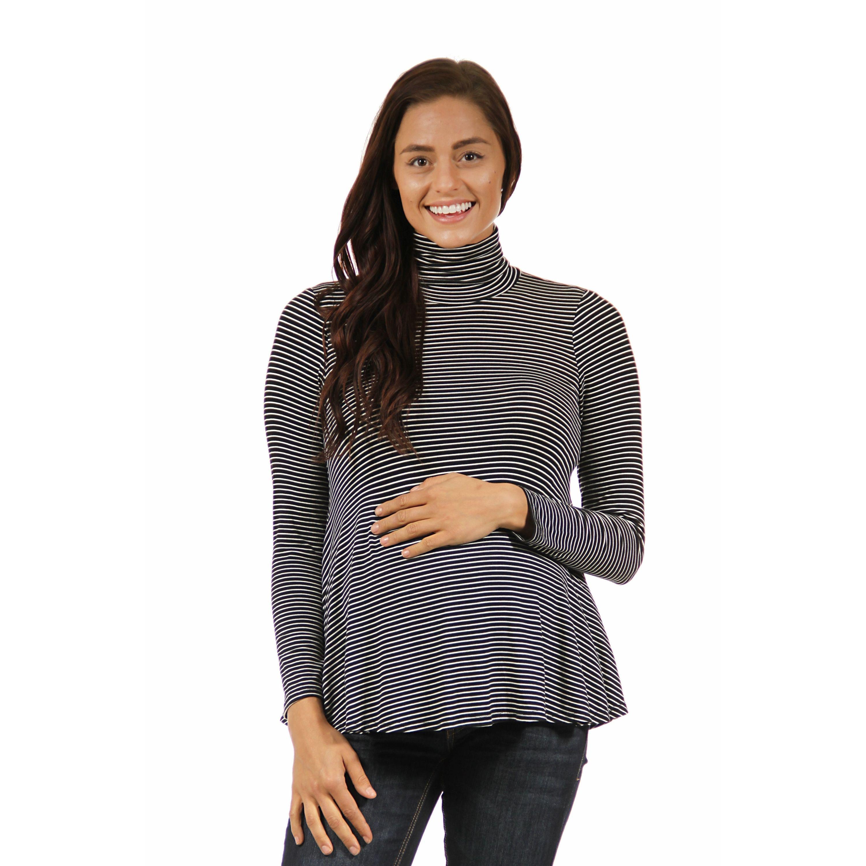 24/7 Comfort Apparel Women's Maternity Turtleneck Sweater