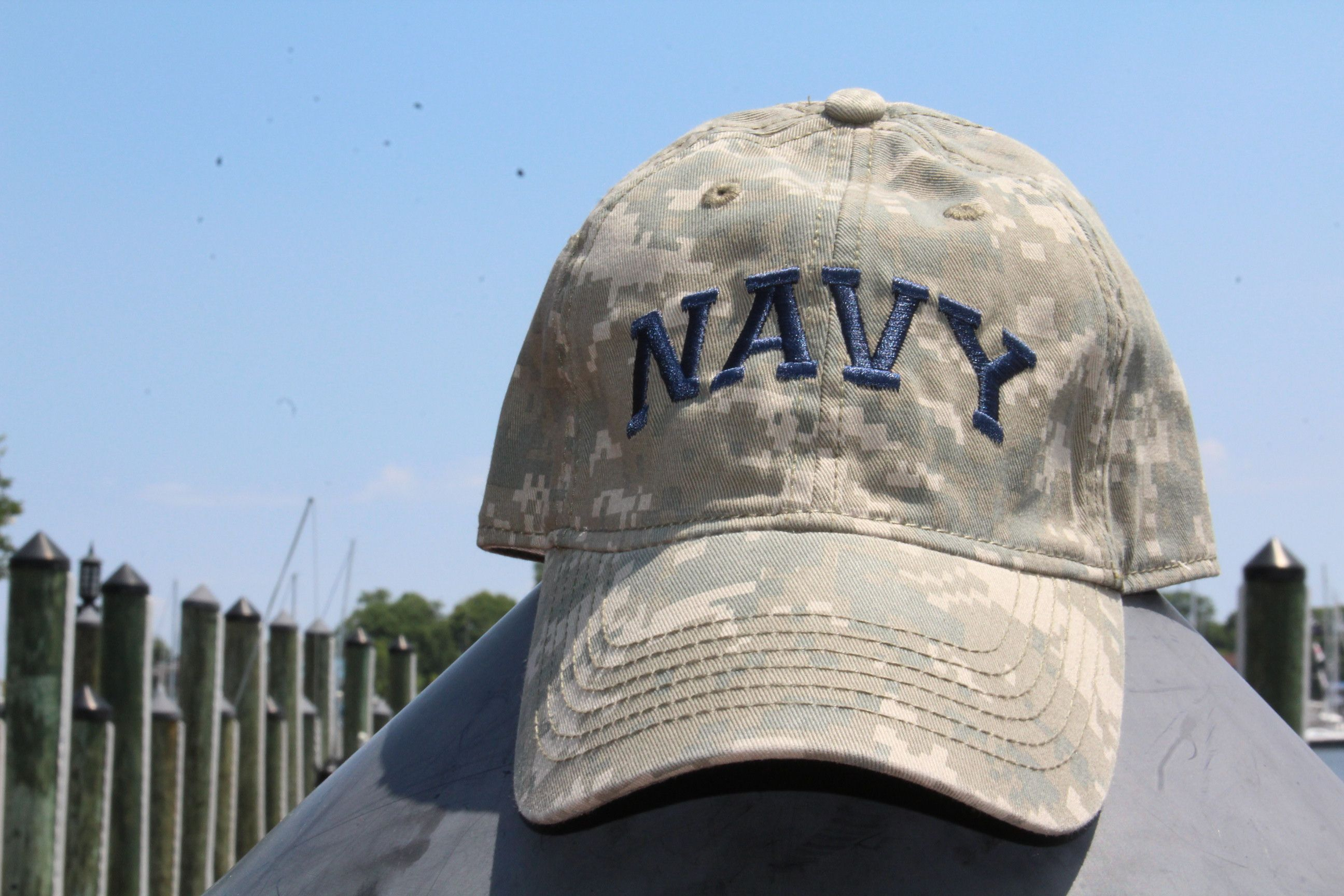 354f1fbc886 Oh wait your just wearing the awesome Navy Arch Digi Camo Hat .Show your  camo colors in this incredibly comfortable hat.