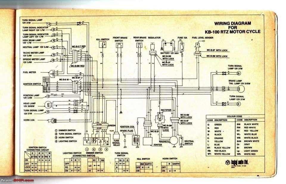Bajaj Pulsar 150 Electrical Wiring Diagram And Wiring Diagrams Of Indian Two Wheelers Team Bhp Diagram Electrical Circuit Diagram Electrical Wiring Diagram