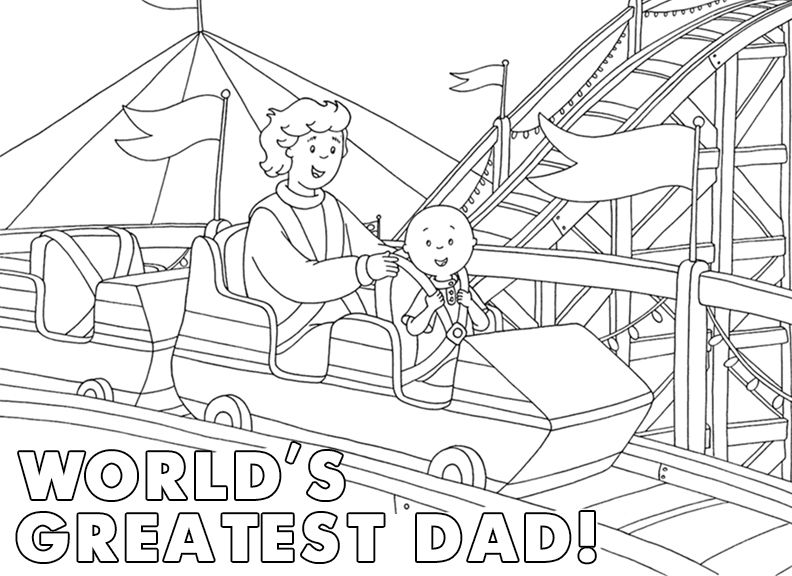 Roller Coaster World S Greatest Dad Printable Father S Day