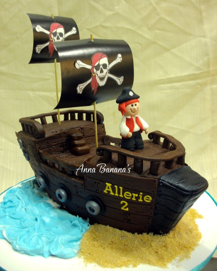 Pirate Ship Childrens Birthday Cakes Hannelines Board