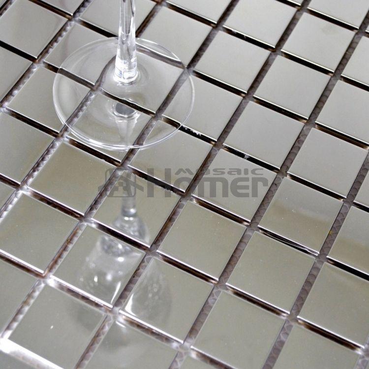 Wunderbar Aliexpress.com : 30x30mm Quadratischen Fliesen Silber Farbe Glänzend  Edelstahl Mosaik Wandmosaik Küche Backsplash Fliesen