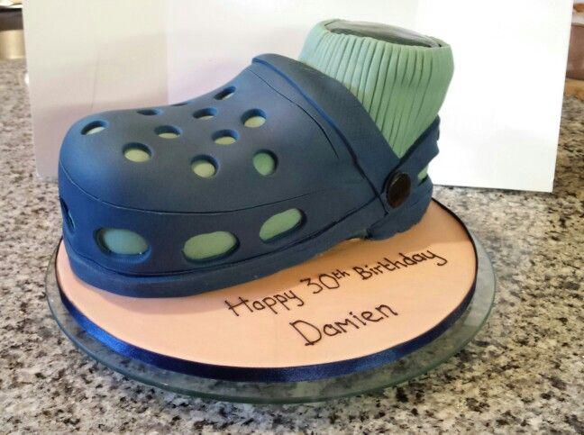 Wondrous Croc Shoe Cake With Images Crocodile Cake Birthday Cards Printable Benkemecafe Filternl