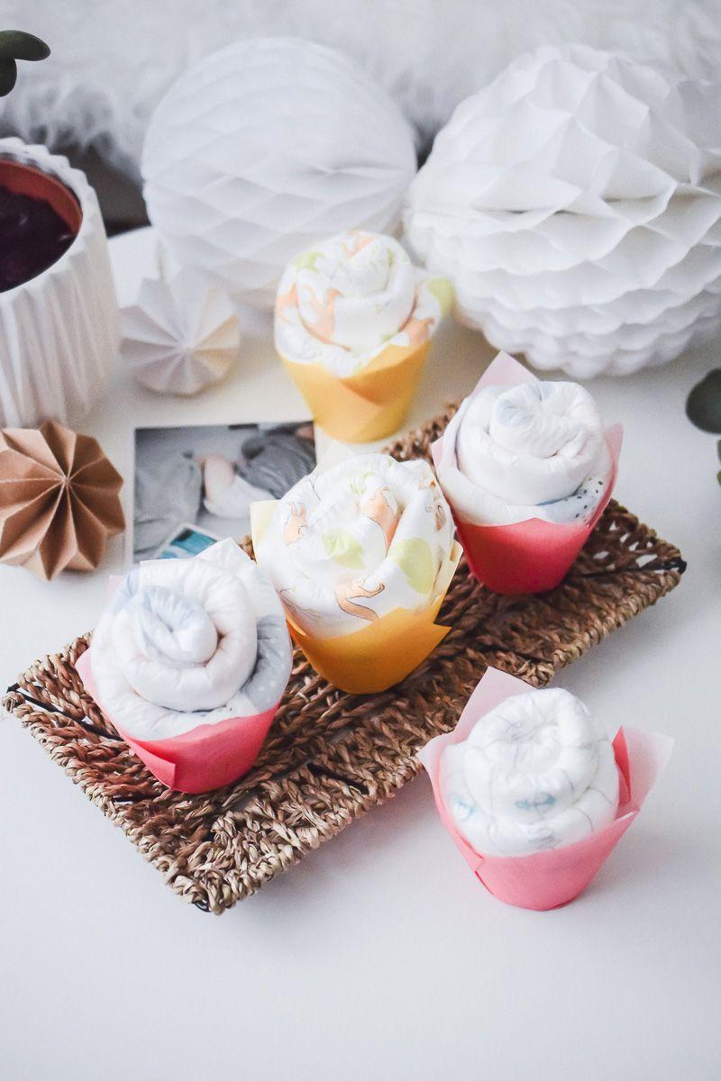 Windel Cupcakes Anleitung Susse Alternative Zur Windeltorte Windeltorte Selber Machen Windeltorte Madchen Anleitung Geschenke Zur Geburt Basteln