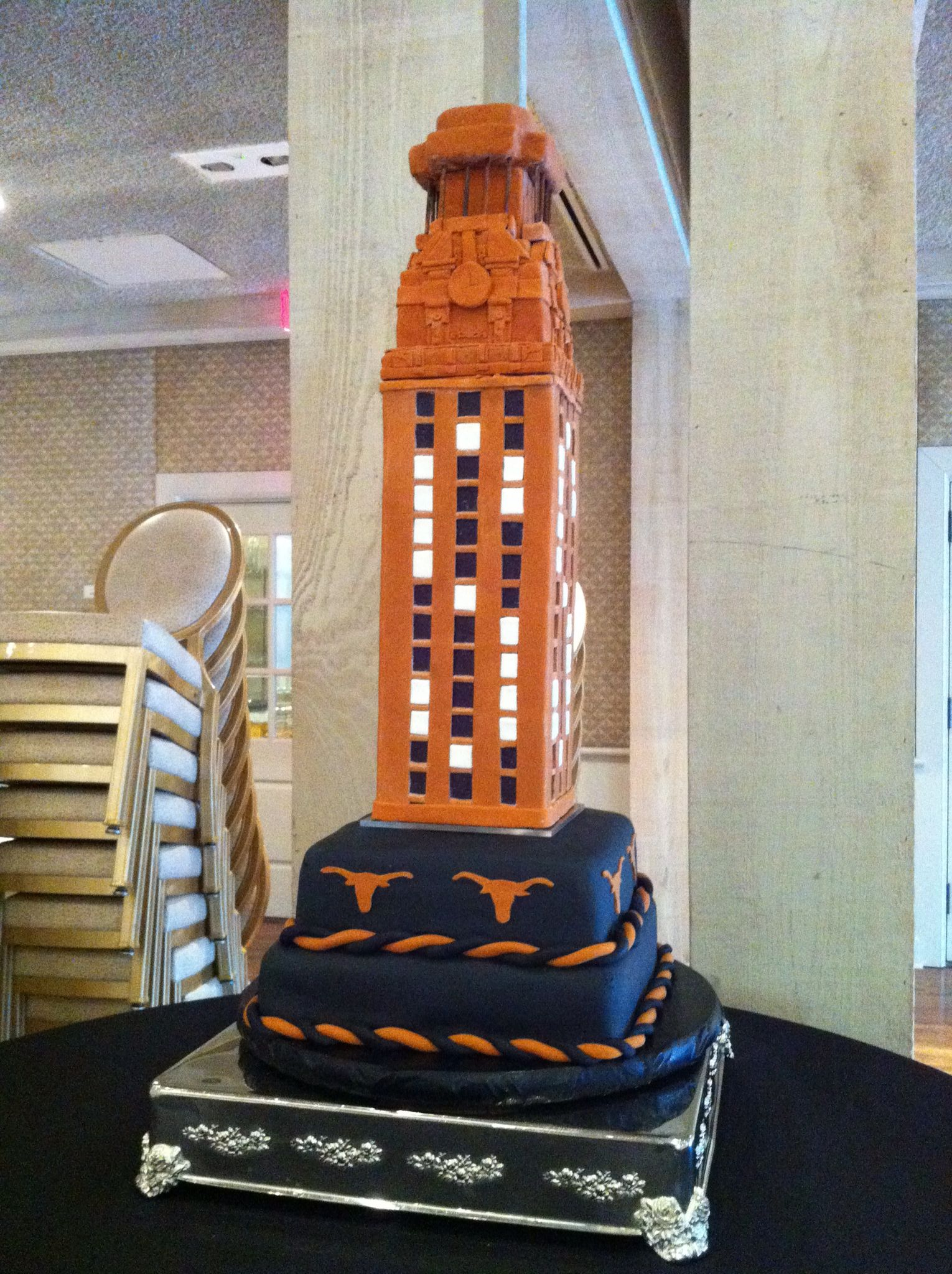 Skyscraper grooms cake